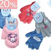 Акция -20% Перчатки  и варежки для девочек и мальчиков от 26грн с 11 по 15.12