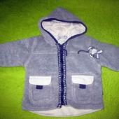 Утеплённая флисовая кофточка на мальчика или девочку  до года