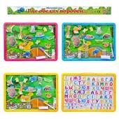 Досточка-игра, магнитный алфавит, животные на магните, фломастер, мел, в кульке