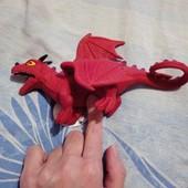 Дракон красный Новый резиновый