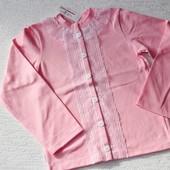 Гарна кофтинка - джемперок для дівчинки на ріст 122-128-140-146см