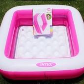 Надувной бассейн Intex с мягким дном, 85*85*22 см. Розовый