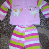 Теплый костюм для малышки на 0, 6-1, 3 годика