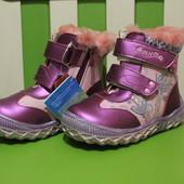 Зимние ботинки для девочки р. 26 стельк 17 см