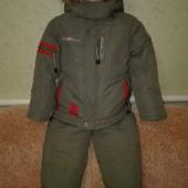Очень теплый фирменный,зимний комбинезон и куртка! Стирается отлично,состояние идеальное,рост110-122