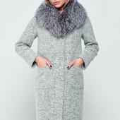 Длинное Зимнее пальто Фиби-мех