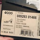Кожаные туфли Ecco 39 размер