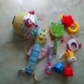 Игрушки для малышей на коляску, погремушки, грызунок