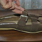 Мой пролет!Кожанные отличные шлепки бренда Borjan(Германия),качество,р 41 ст 26.5 см