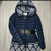 Очень теплая зимняя куртка S, смотрите фото и замеры