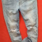 Классные женские рваные джинсы с высокой посадкой Vero Moda 32/32 в прекрасном состоянии