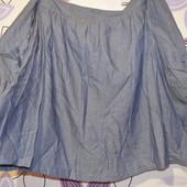 Джинсовая коттоновая юбочка больших размеров-50 раз