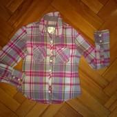 Модная и стильная рубашка 6-7 лет отл сост