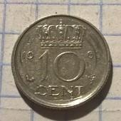 Монета Нидерландов 10 центов 1969