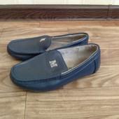 Кожаные Мокасины туфли calorie, 32 р, по стельке 19,5 см +эспадрильи  33 р.