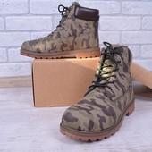 Мужские крутые камуфляжные ботинки ,качество отличное не промокают зима 41-46