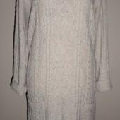 стильное тёплое фирменное платье объёмной вязки,10% шерсть,18 по бирке,52-54 р
