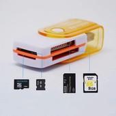 USB Картридер 4 в 1 , на все виды флешек ! 4в1 Card reader 4in1, cardreader 4 in 1.