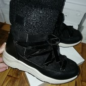 Качественные зима ботиночки Эко замш Внутри на меху,быстрая отправка сразу после оплаты