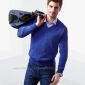 Пуловер с V-образным вырезом синий  Тсм чибо германия  р.XL