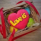 Набор красивенных пряничков к 14 февраля! В подарочной коробочке!