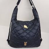 Сумки-рюкзак чорна из текстиля в наявності