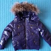 Куртка Dodipetto Италия 3-4 года с натуральным мехом