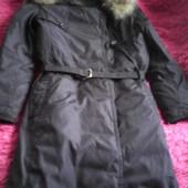 Зимнее фирменное пальто-пуховик Henry Cottons, 40(евро,наш 44-46),воротник-натуральный мех