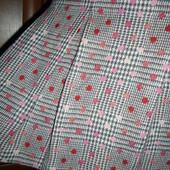 Шерстяная юбка со складками