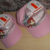 фірмова кепка на дівчинку рожева з паетками (в лоті 1 шт) дуже гарна та якісна