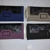 Новинка! Стильный женский кошелёк под ровную купюру (наличие цветов в лоте)