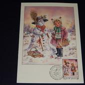 Почтовая карточка. (открытка). Остров Мэн. 1993 год. чистая. Рождество!