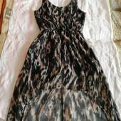 Платье  из шлейфом