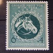 марки. Третий Рейх. ( чистые.) 1944 год. Грандпри Вены в 1944 году. 6+4 pf.