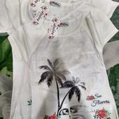 Новинка!Они бомбезные))Лето не за горами!Очень стильная,яркая и модная футболка для девочек!