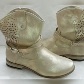 Класнючие сапожки 37-40р. Цвет -матовое золото