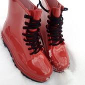 Модные резиновые ботинки 36,37