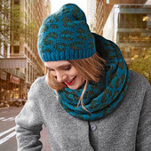 Шикарный теплый комплект от ТСм Чибо (германия): шапка +снуд