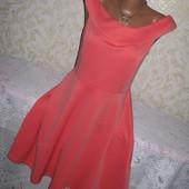 Нарядное нежное платье 12р.,абрикосового цвета, Atmosphere
