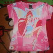 Яркая футболка для девочки! 3,4,5,6,7лет