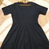 Классическое черное платье Boohoo, размер 24
