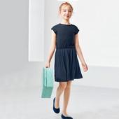 ☘ Платье с плиссированной юбкой от Tchibo(Германия), размер: 122-128