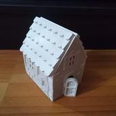 Сборный домик под раскраску для детей и взрослых) + отличный декор для дома! Лот 2 домика=14деталей