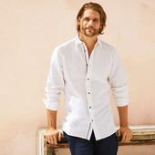 Мужская льняная повседневная рубашка Livergy, Германия, размер eur ХL/43-44, супер качество.