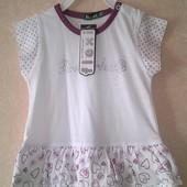 Новое платье туника на 1 годик и дальше, размер 80-86