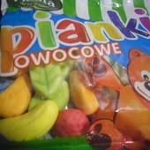 Польша!Очень вкусные желейки!Жевательные конфеты в виде фруктов и ягод - фруктовое ассорти ,80 гр.