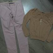 Пурпурные зауженые штаники+кофточка-50р.Чудов.стан.