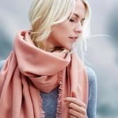 Нежная розовая  шаль палантин Тchibo Германия, размер 210*100 см