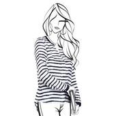 Блузка свободного силуэта со стильным графическим принтом от Tchibo, размер 38 евро=44