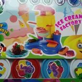 Новый набор с тестом для лепки -фабрика мороженного.